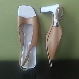 "Talbot 3"" slingback two toned heels"